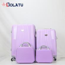 New ABS zipper travel luggage with Injection box