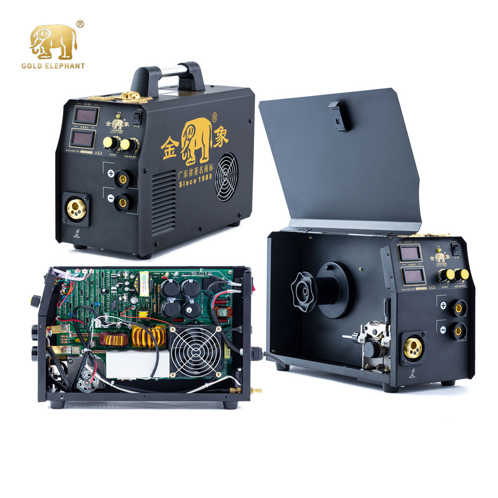 MIG-200P gas-shielded portable multifunctional aluminium dc co2 mig pulse inverter high frequency welding machine