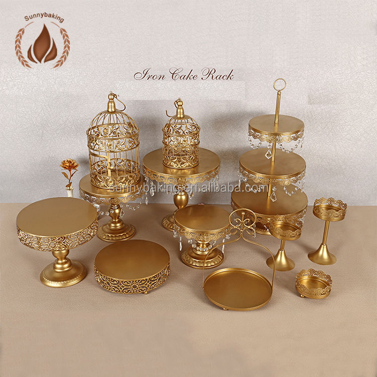 Decorating Cake Tools, Lovely Round Metal Rotating Wedding Cupcake Cake Stand