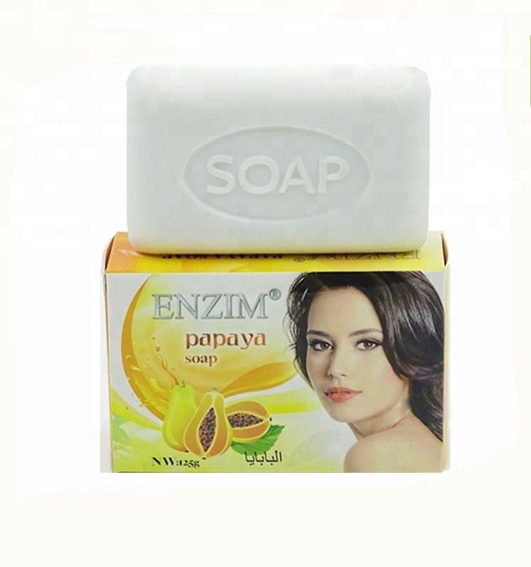 Biodegradable body papaya whitening eva soap 125g