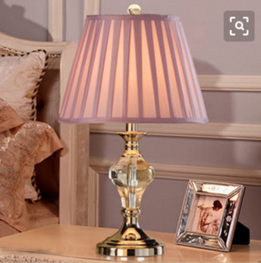Fashion and yellow crystal table lamp