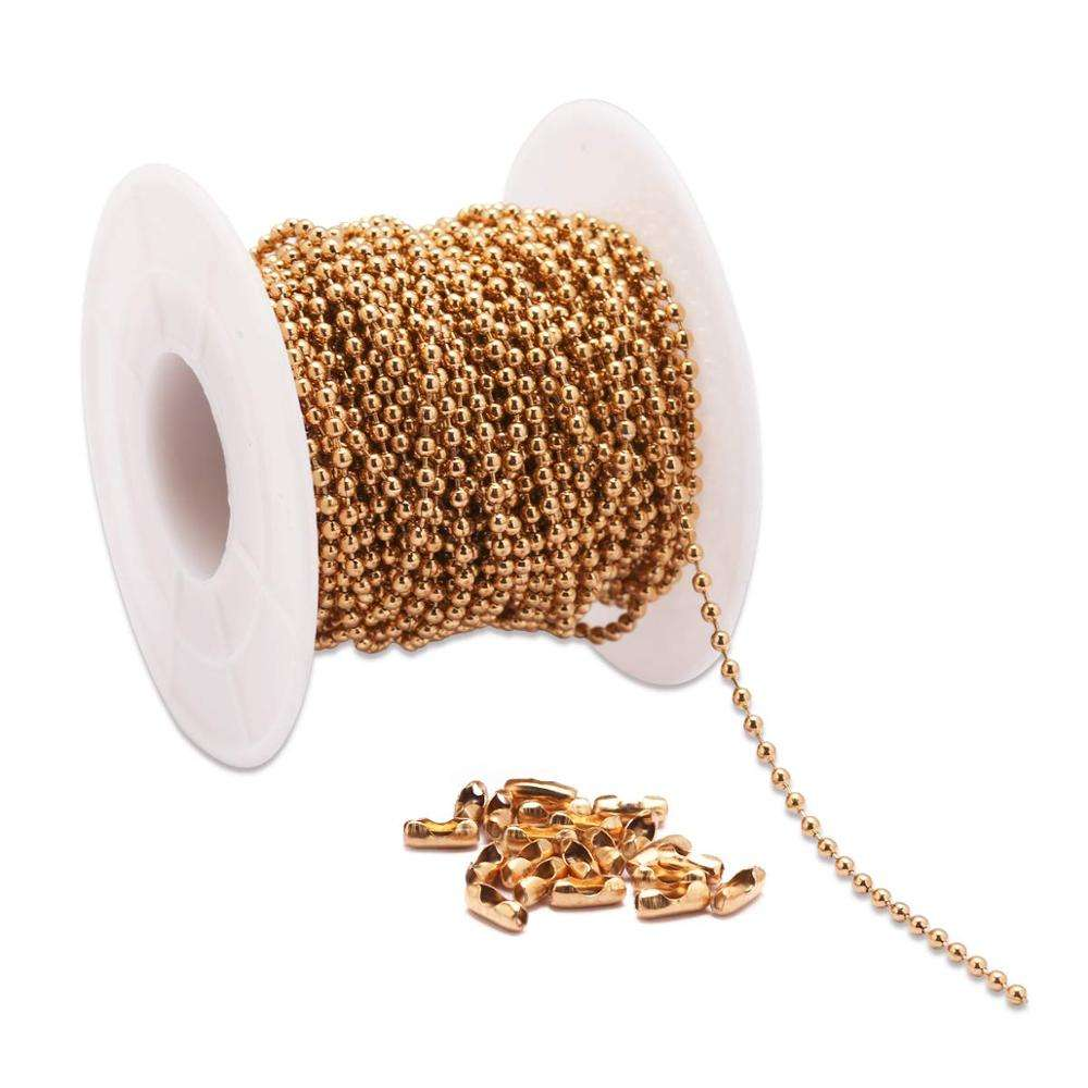 nickel free gold ball chain roll
