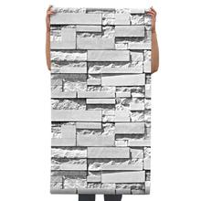 3D Brick Gray Stone Grain Decorative Interior Wall Wallpaper