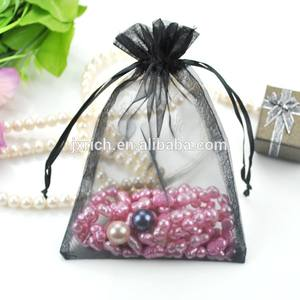 Black organza pouch bags for jewelry