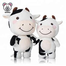 Fashion Kids Cartoon White And Black Milka Cow Plush Toys OEM Custom Cute Baby And Mom Stuffed Animal Soft Plush Cow Toy