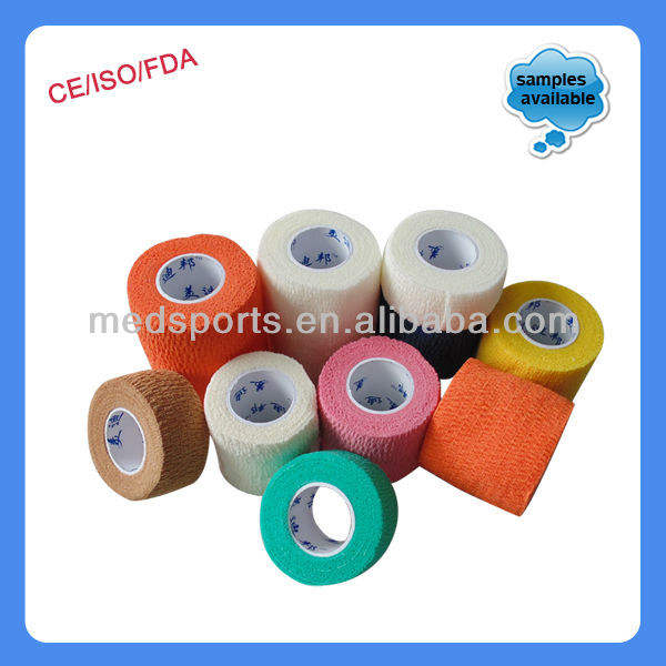 Plain Cotton Cloth Adhesive Elastic Bandage!(CE Approved)