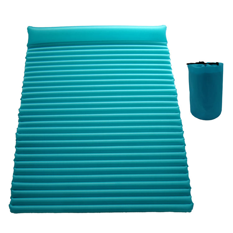 Double 2 Person Camping Self Inflating Sleeping Pad Lightweight Air Sleeping Pads