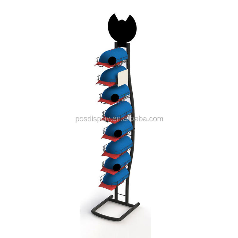 Baseball cap display rack en plank/hoed stand display voor winkel