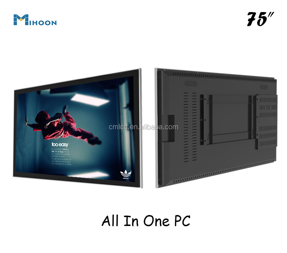 55 inch LCD LED Video Touch Media Box I3 I5 I7 All In One Computer