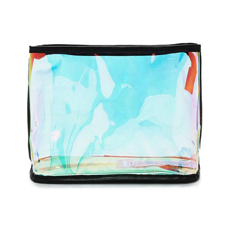 Laser Iridescent Holographic PVC Cosmetic Bag Make Up Pouch Girls Vanity Bag
