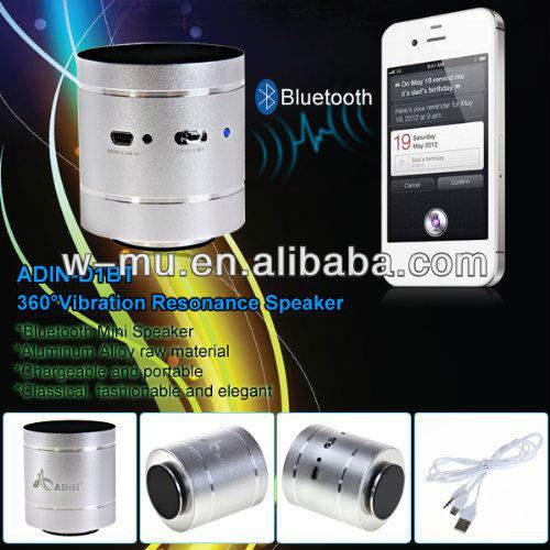 adin vibração bluetooth speaker com embalagem original e design portátil