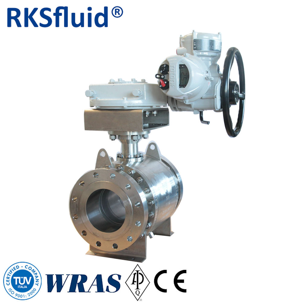 API6d&API608 Trunnion Type Flange Ball Valve Gear Operation A105/F304/F316