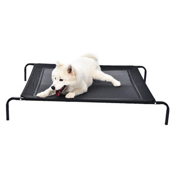 New Style Durable Dog Mesh Cover Elevated Pet Bed With Steel Square Tube