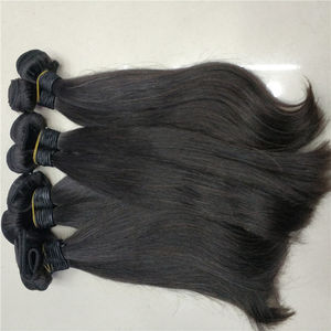 Lestfly 10A Wholesale long hair straight wave temple indian raw virgin cuticle aligned hair extension
