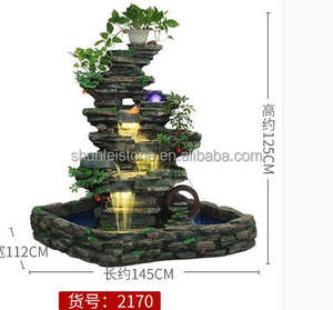 artificial fiberglass resin rock waterfall fountain