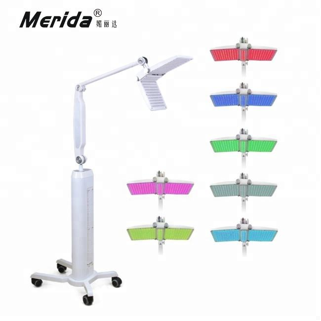 Lámpara LED PDT para terapia de fotones faciales, 7 colores