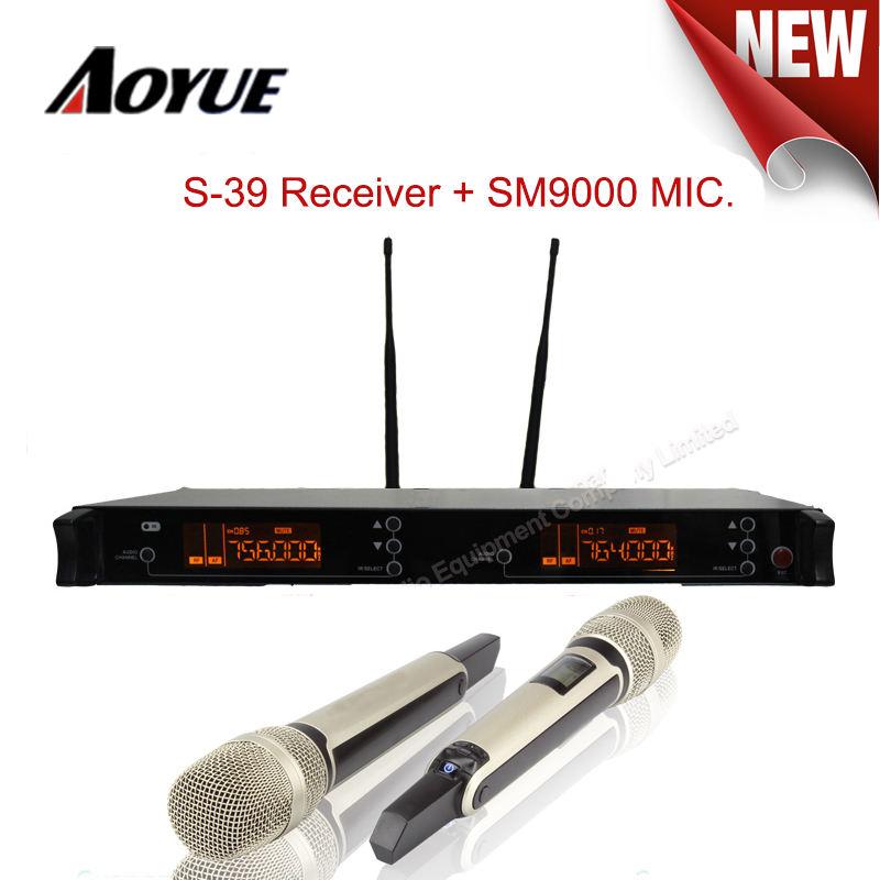 Technique Pro Dynamique Audio 2 Canaux Sans Fil UHF Hand Held Microphone Karaoké AS-39