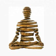 Customized abstract bronze Buddhist statue for philosophy