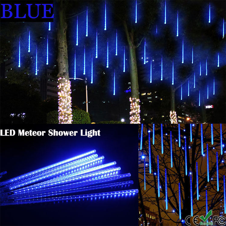 Waterproof Meteor Shaped Led Christmas Lights Wedding Xmas Outdoor
