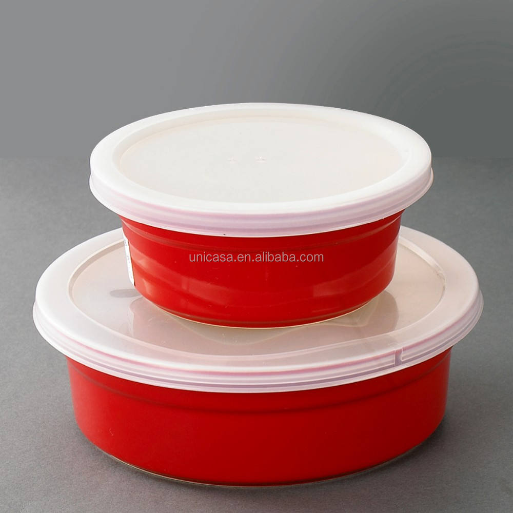 Promotional China Ceramic Manufacture Bakeware Food Keeper Colorful BPA Free Ceramic Ramekin Set