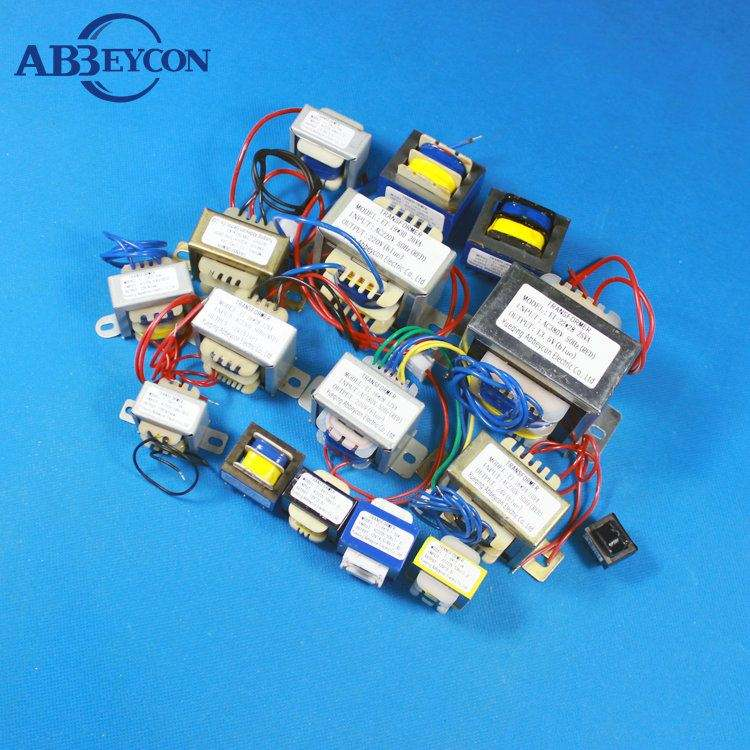 0.5-0.6VA EI pcb mount power epoxy low frequency transformer with by manufacture sales