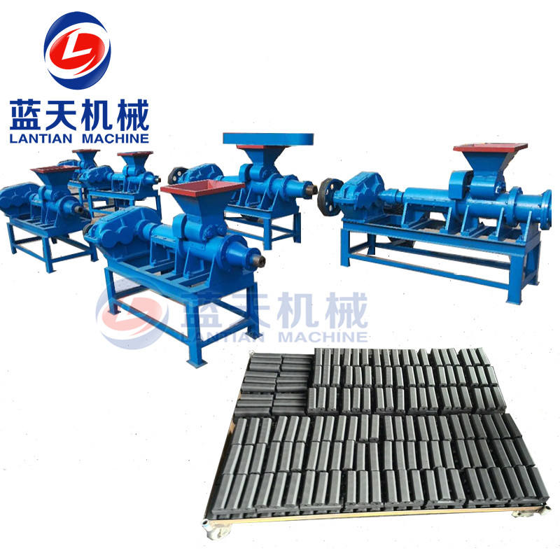 Used/new type briquetting machine for sale twin screw type wood charcoal powder briquette extruder machine