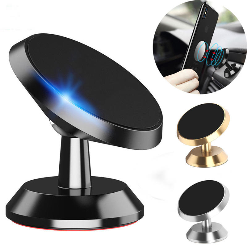 magnetic car phone holder 360 degree rotating multi-function adsorption car mobile phone holder for Huawei p20 p30 p30pro