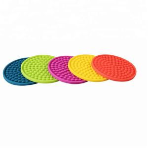 Wholesales Popular Multi-purpose Silicone Coaster with Holder Set of 6