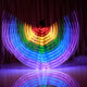 LED dance colorful wing LED glow props cloak belly LED wings