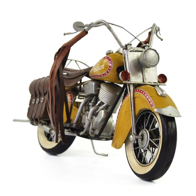 1950 Antique Classic Indian Motorcycle Model Retro Vintage 집 단 Metal 공예 대 한 홈/펍/Cafe 장식 나 생일 선물