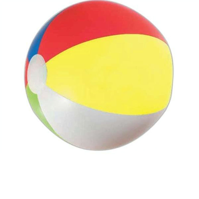 Custom logo design inflatable 6P PVC beach ball