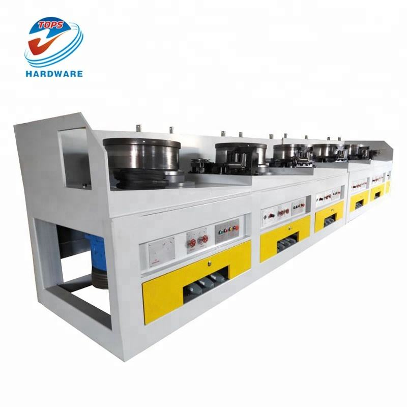 Wire drawing machine for galvanized wire line