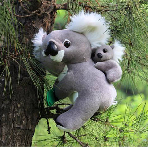 dropshipping 30CM Koala bear cinereus mother and son plush toy bear doll child