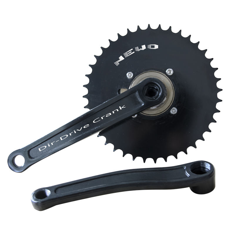 Steel Chainwheel Mountain Bicycle Crankset electric tricycle 4 hole without teeth freewheel