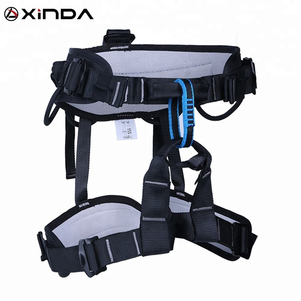 XINDA half body climbing harness with padding for fall protection rock climbing
