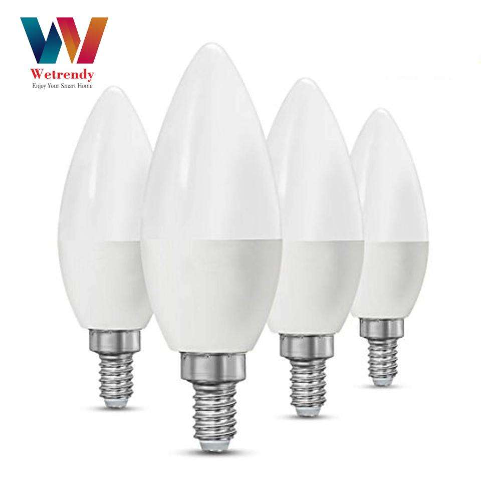 Wetrendy 5W E14 Smart Lamp Afstembare Wit 2700K-6000K Rgbw E14 <span class=keywords><strong>GU10</strong></span> MR16 Smart Lampen Alexa en Google Thuis Voor Voice Control