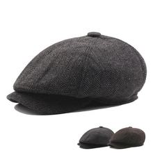 Winter Autumn European style 6 Panels Ivy Hat  Newsboy Cap for Men