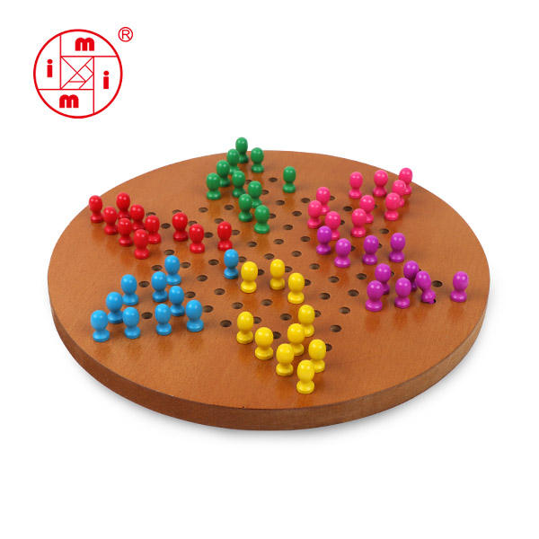 Brain game hot selling klassieke houten Chinese <span class=keywords><strong>checkers</strong></span>