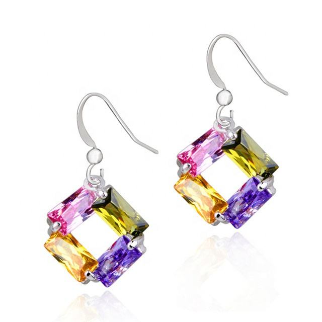 No MOQ Jewelry Wholesale Dangle Earrings Multi Earring Cubic Zircon Drop Earring