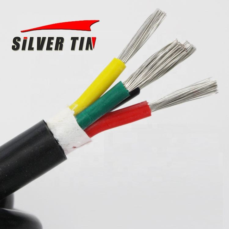 Electrical Flex Cable 2 3 4 5 6 Core Silicone Rubber Wire Tinned Copper Stranded