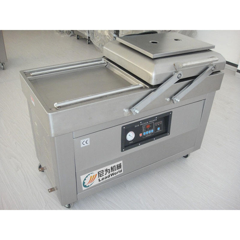 vegetable and meat double chambers vacuum packing machine