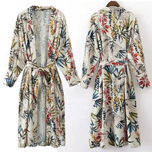 factory price wholesale soft rayon fashion arm sleeves pretty women clothing long kimono