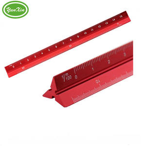 Laser Etched 12Inch Imperial Aluminum Triangular Architectural Engineering Custom Design Scale Stainless Steel Ruler
