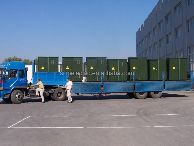 Paquete de la unidad compacta de distribución de energía eléctrica transformador de la subestación