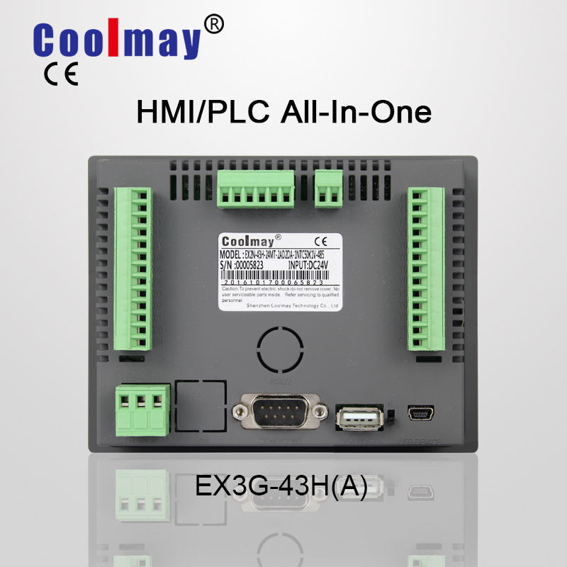 Coolmay integrated PLC and HMI with compatied gx developer software