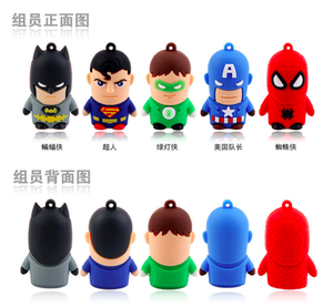 การ์ตูนSpiderman/Supermanไดรฟ์ปากกาUsb3.0 Usb 2.0 CLE Usb Memory Stick Superheroes Flash Drive