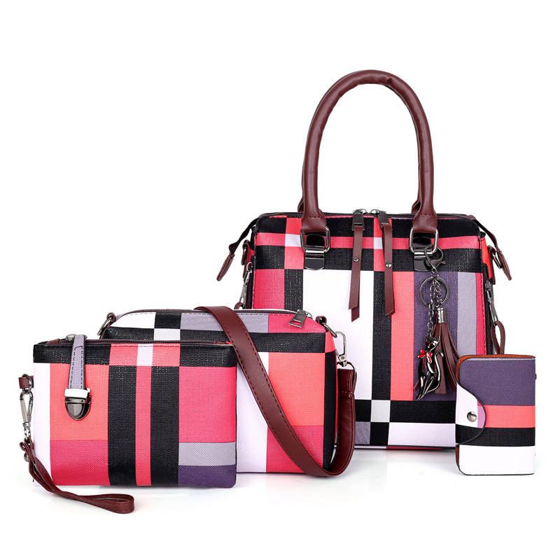 Online shopping Berühmte marke phantasie damen schulter sling heißer verkauf türkei 4 pcs set tasche designer handtasche für frauen