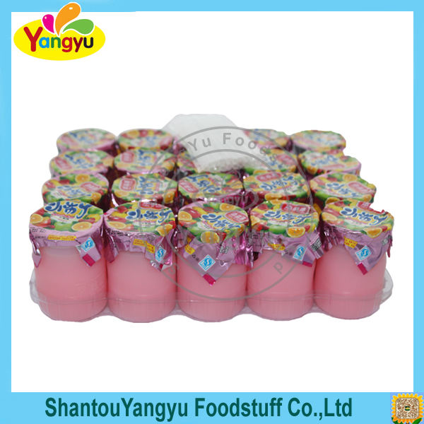 Cute design Vitamin C jelly ,drinking cup jelly pudding