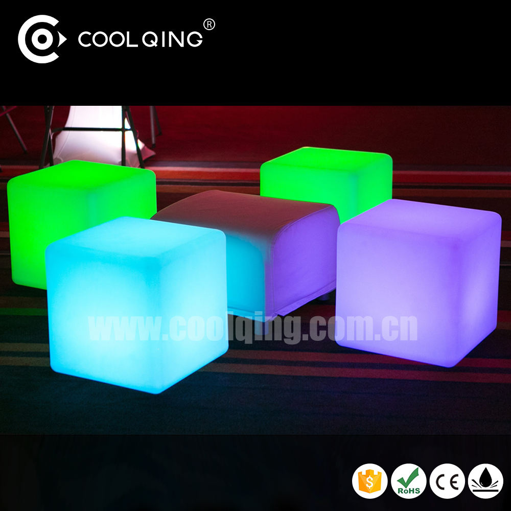 LED furniture and furnishing-small seat modular furniture cubes/ led illuminated furniture