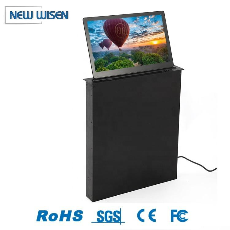 Pop Up Monitor Custom Size Dual Screen Hidden Desk Motorized Pop Up Lcd Monitor